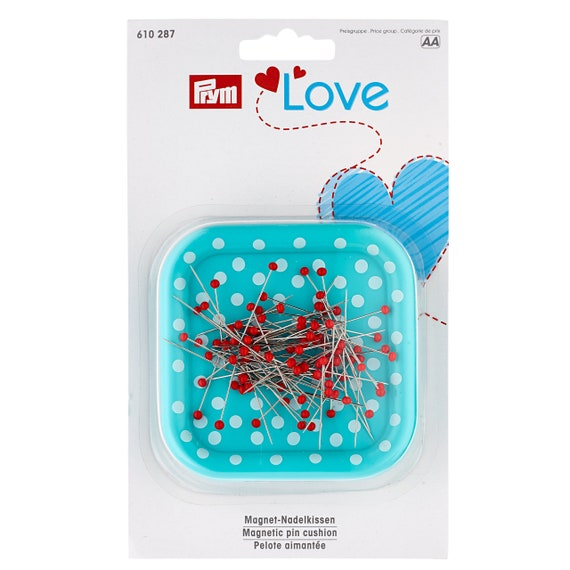 Prym Polka Dot Pin Cushion /& Scissors Black 610322 White /& Red