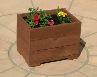 Reclaimed Pallet Wood Box Planter - Hand Made