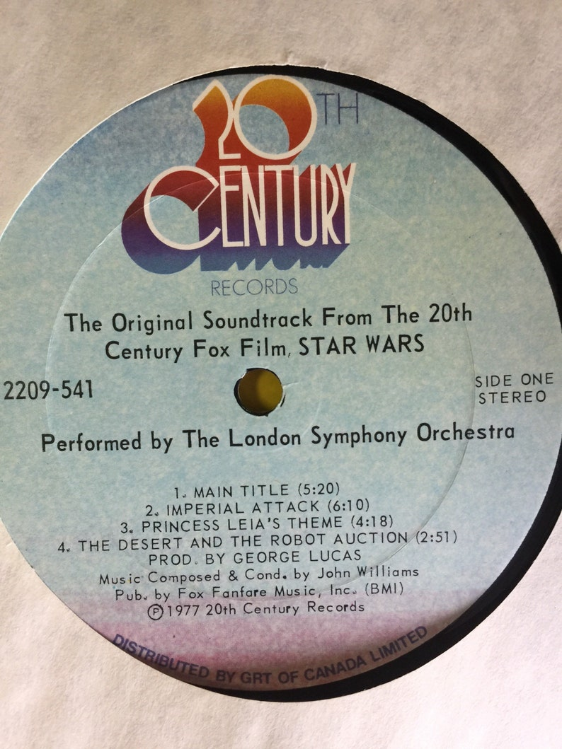 Star Wars The Original Soundtrack from the 20th Century Fox Film 2209-541