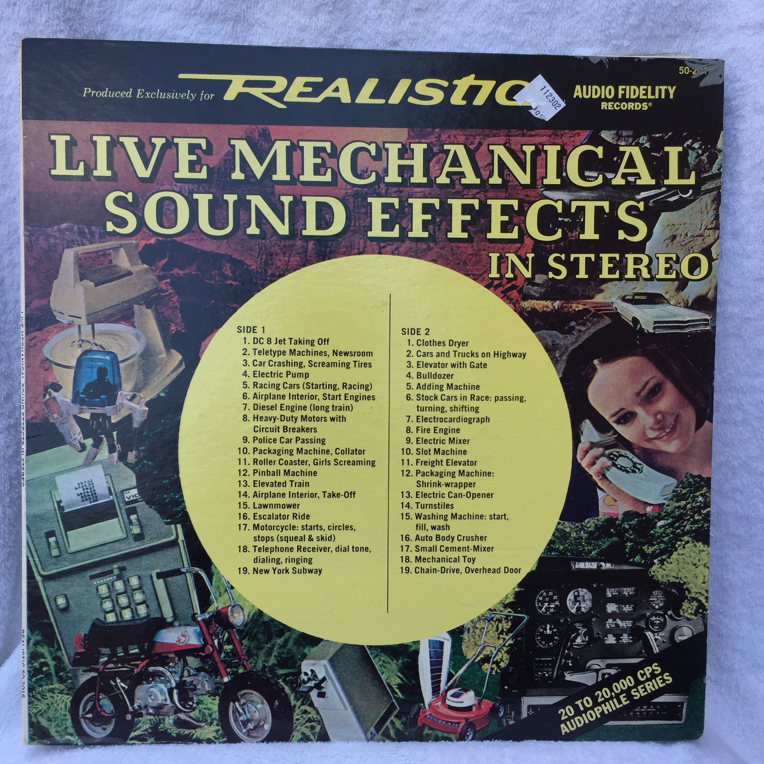 Live Mechanical Sound Effects Vinly LP Movies audiophile Fire engine Roller  coaster