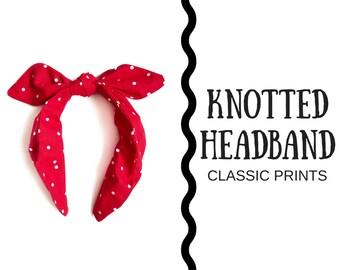 Knotted Bow Headband - Classic Prints 2c45a64f0f9