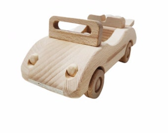 Small wooden Cabriolet Vehicle ECO