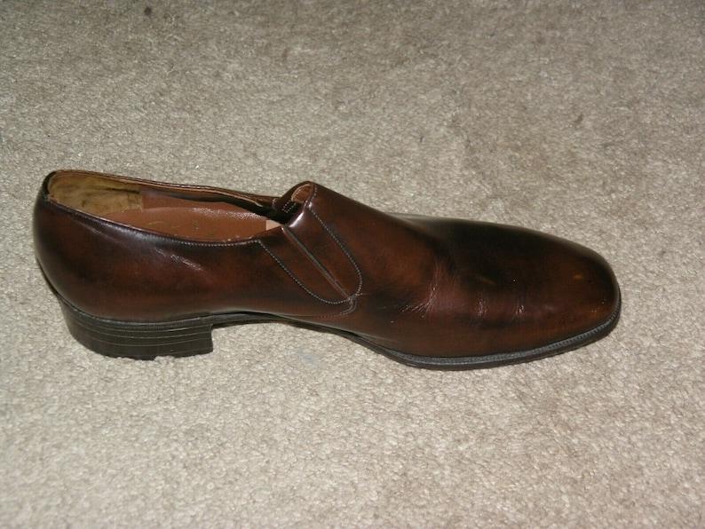 Church/'s Brummel Deadstock Vintage Chestnut Leather Half Chelseas Size 10.5 NWOB
