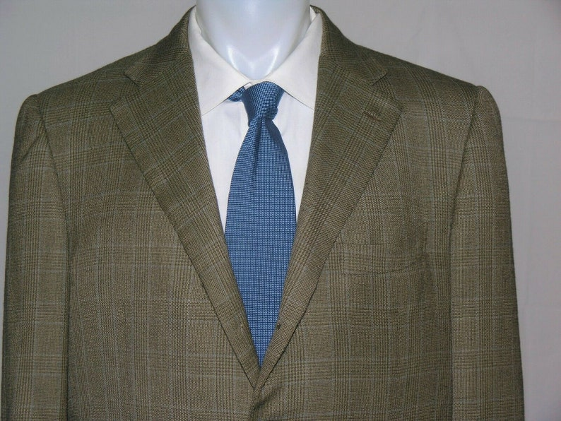 Ermenegildo Zenga Napoli Couture Three Roll Two 100/% Cashmere Blazer 44R