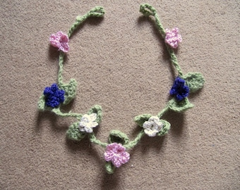 Flower Garland - hand crochet