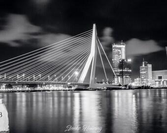 Erasmus Bridge, Rotterdam, at night