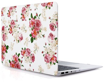 Floral Rose MacBook Air computer case Hard Plastic Case for MacBook Air 13 inch Model A1369 and A1466