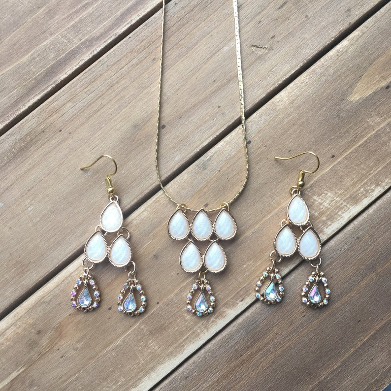 Statement Necklace and Earring Set Boho Jewellery