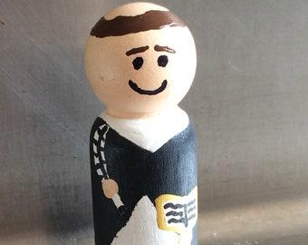 Saint Thomas Aquinas Peg Doll