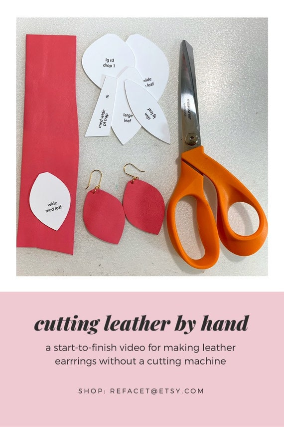 Physical Patterns for Cutting Leather by Hand Designer\u2019s Faves Mega Bundle ALL NEW ** Leather Earring Template Cutouts not SVG