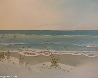 Sea Oats and Railroad Vines at the Beach
