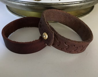 Leather bracelets. Made using stingray, bison, water buffalo.