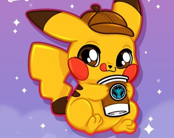 Detective Pikachu vinyl sticker