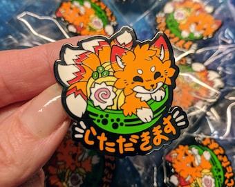 Kitsune Udon hard enamel pin