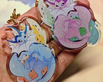 Vaporeon Acrylic Keychain || pokemon, eeveeloution, cute, water