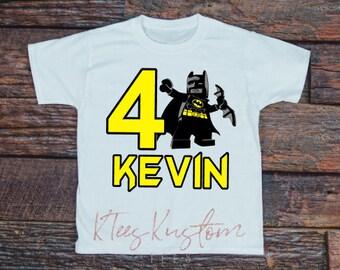 Lego Batman - Batman Birthday Shirt -  Family Birthday Shirts