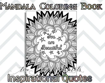 Adult coloring page inspirational quote printable coloring