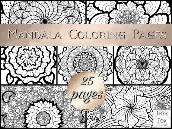 Mandala Coloring Book Pages Printable Adult Coloring Book Coloring Pages Set Unicorn Coloring Pages Zentangle Coloring Pages Pdf Digital
