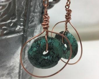 Primitive Wire Wrap Earrings