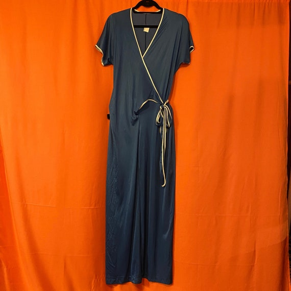 1970s UndercoverWear Nylon Wrap Jumpsuit