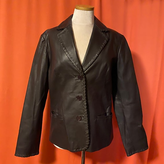 1990s Newport News Leather Blazer