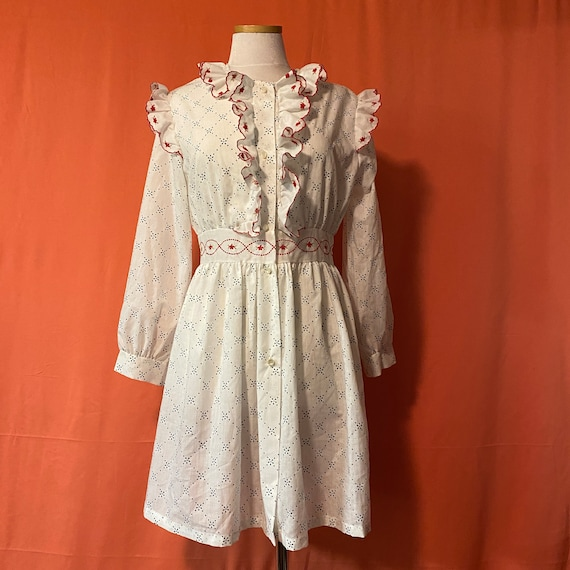 1970s Suzy Star Ruffle Dress
