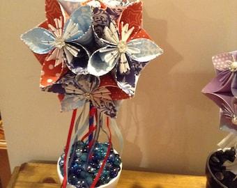 Origami flower pots