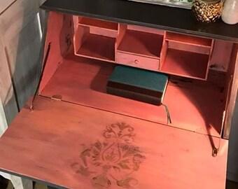 Vintage Handpainted Secretary Desk