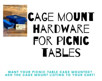 Cage Mount Hardware for Parrot Picnic Tables