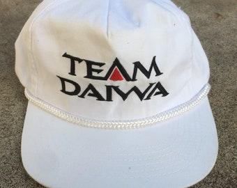 fb8abce4299 Team Daiwa 5 Panel Snapback Trucker Hat Vintage 90s Embroidered