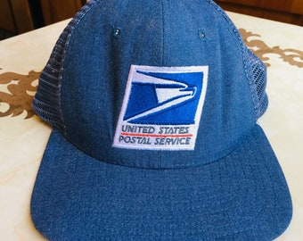 bf08e601ce8 USPS 6 Panel Poly Mesh Snapback Trucker Embroidered Made in the USA!