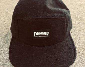 08609056 Thrasher Magazine Logo 5 Panel Strapback Hat