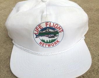 Vintage 90s Life Flight Network 5 Panel 100% Cotton Snapback Trucker Hat 86d3e1ac0f16