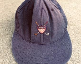 630ce356d2bd5 Vintage 90s Polo Ralph Lauren 6 Panel Hat Embroidered 100% Cotton Size XL