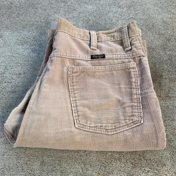 Vintage 70s Boot Cut Corduroy Wrangler Jeans 34x31
