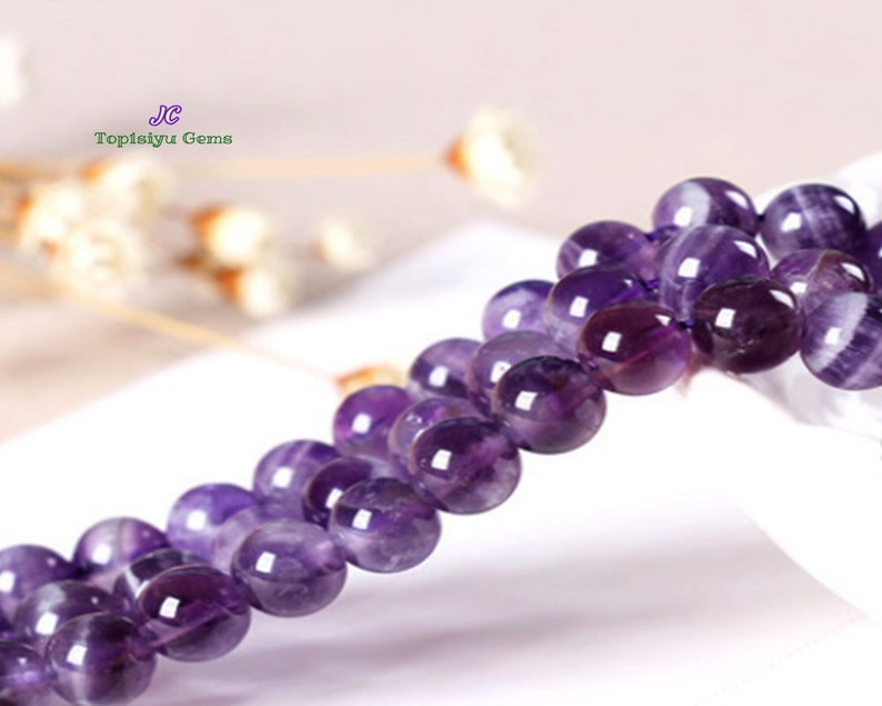 """amethyst   round 14mm necklace 18/"""" nature wholesale beads discount"""