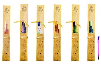 SeaSavers BUNDLE! Designer Glass Straw Set ~ Hand Blown Glass Gift