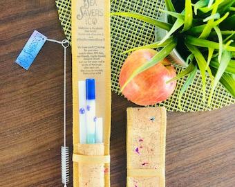 Unicorn Mermaid BUNDLE!  Designer SeaSavers Straw Set. Hand Blown Glass Art. Eco Friendly Gift for Mom, Housewarming, Plastic Free & Healthy