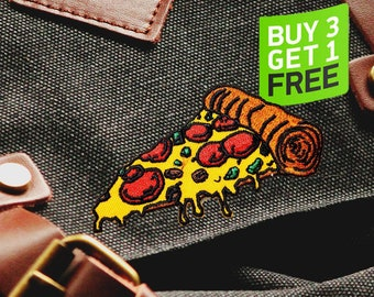 Pizza Patch Iron On Embroidered Patches Iron On
