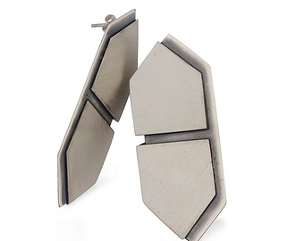 Geometric layers earrings