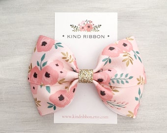 1e4e894aba56f Floral hair bow | Etsy