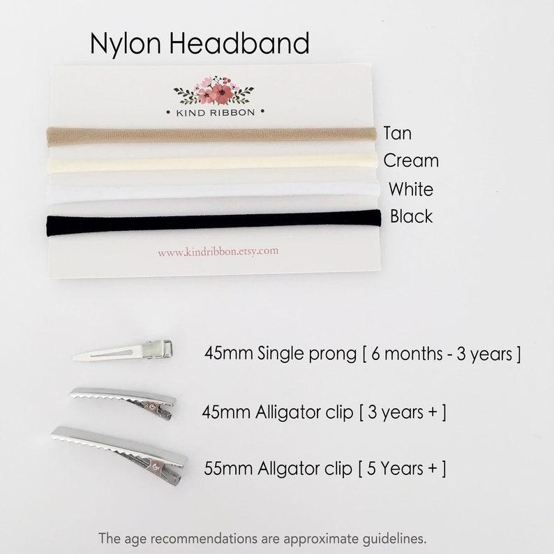 Light Peach Gingham Bow Clip or Headband Schoolgirl Hair Bow Baby Hair Bow Neutral Color Gingham Bow Gingham Check Bow
