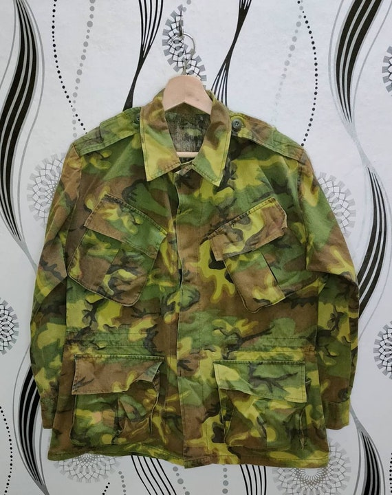 Vintage Military Army Camouflage Jacket