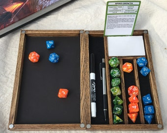 Dice Box and Rolling Tray: Handcrafted for Dungeons and Dragons, Pathfinder, or any Tabletop Roleplaying Game. Solid hardwood update
