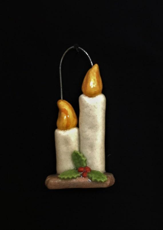 Salt Dough Candle Ornament