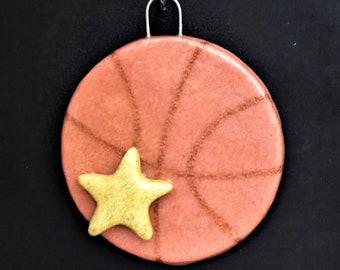 Salt Dough Basketball Ornament