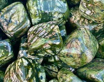 Large Asterite Serpentine Tumbled Stones, Asterite Serpentine Tumble Stone, Polished Asterite Serpentine, New Jade, Grounding, Heart Chakra