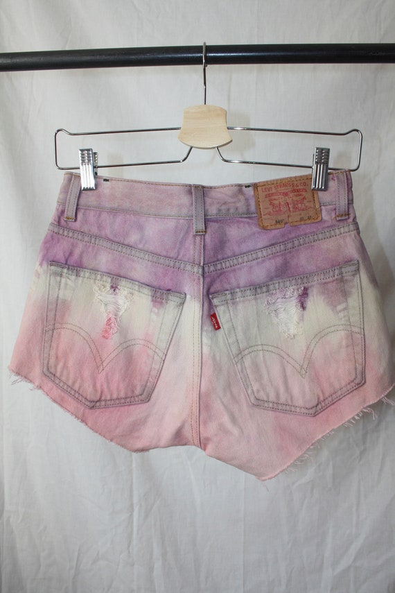 Levi's Tie-dye Denim Shorts