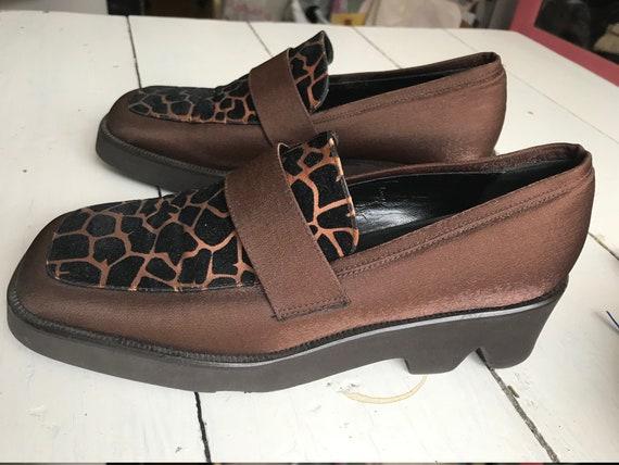 90's Satin Plateau Leopard Shoes