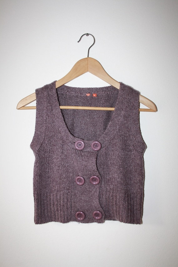 90s Cropped Knit Vest
